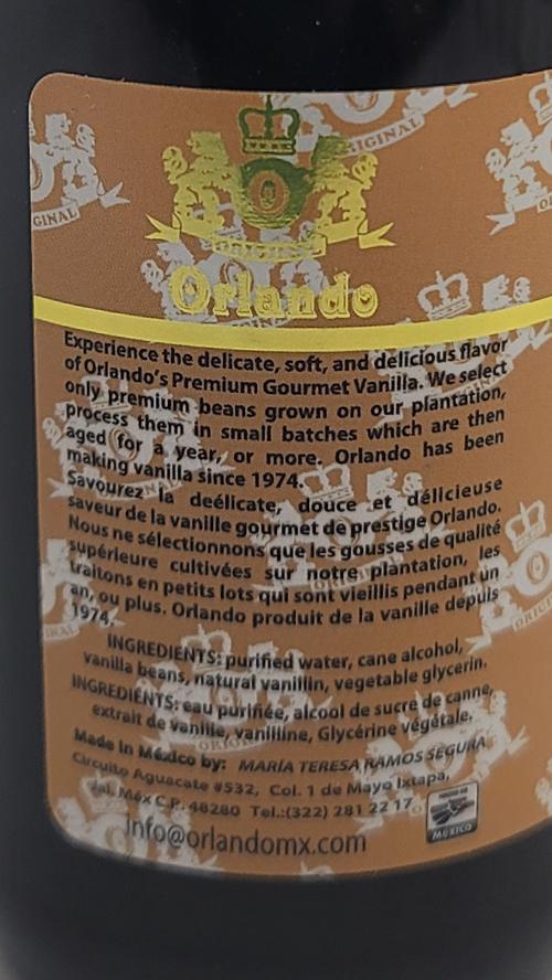 orlando vanilla label
